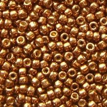 Toho 11/0 Seed Beads, Permanent Finish Galvanised Medal Bronze PF594 - 10 grams